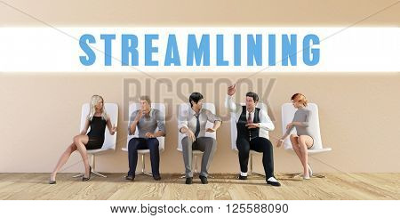 Business Streamlining Being Discussed in a Group Meeting 3D Illustration Render