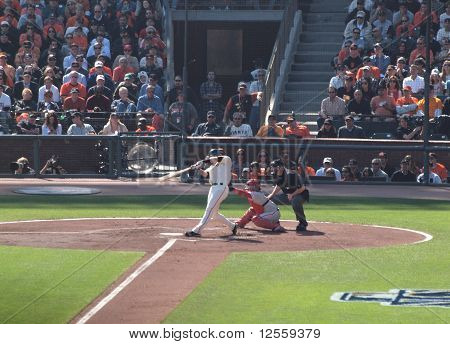 Buster Posey Swings At Pitch