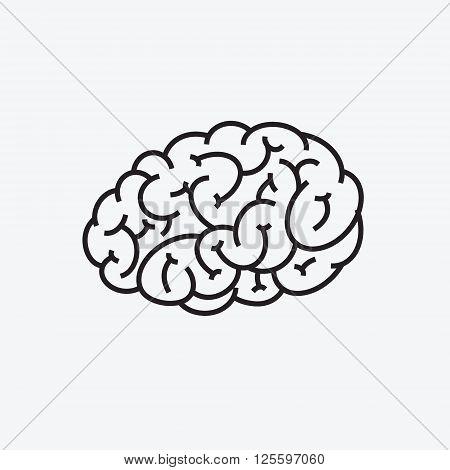 Brain icon. Vector Illustration of Human Brain