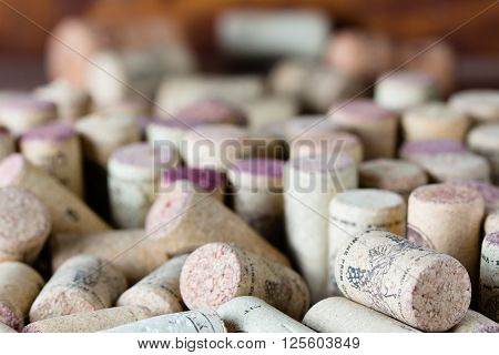 Background horizontal with wine corcs. Wine concept