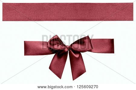Ribbon isolated with path on white background.
