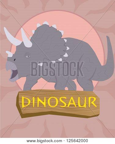 Dinosaur triceratops silhouette against the sun .
