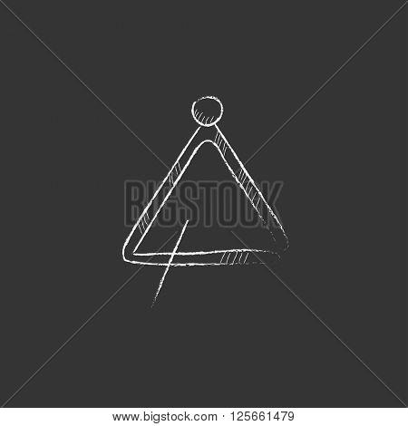 Triangle. Drawn in chalk icon.
