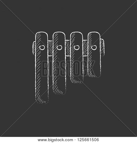 Vibraphone. Drawn in chalk icon.