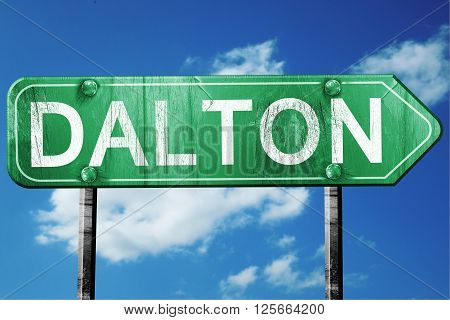 dalton road sign on a blue sky background