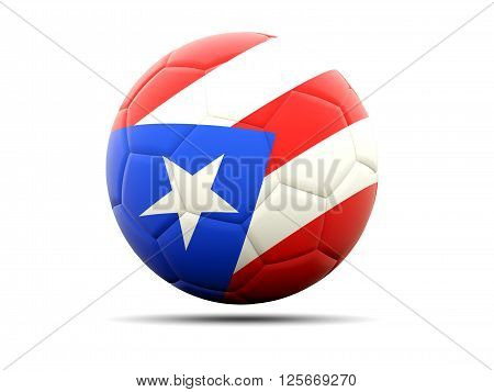 Football With Flag Of Puerto Rico
