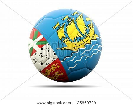 Football With Flag Of Saint Pierre And Miquelon