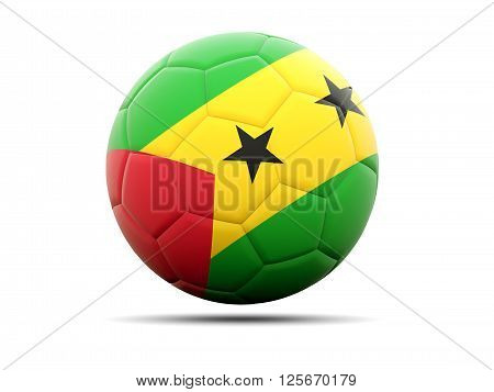 Football With Flag Of Sao Tome And Principe