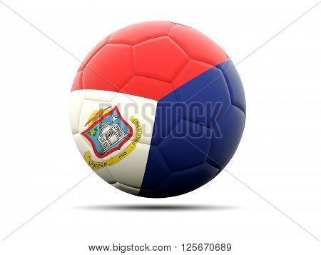 Football With Flag Of Sint Maarten