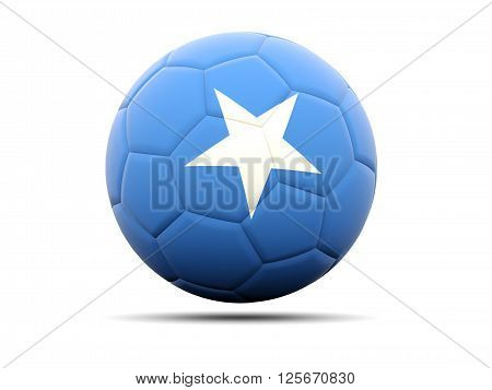 Football With Flag Of Somalia