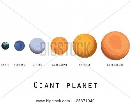 Giant Planet. Planets And Stars Of The Universe. Major Planets.