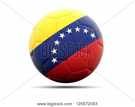 Football With Flag Of Venezuela