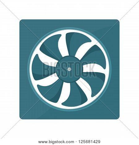 Radiator fan vector illustration. fan radiator isolated on white background