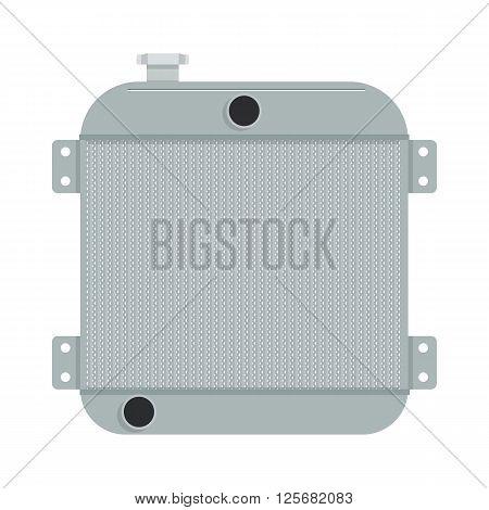 Car radiator vector illustration. car radiator isolated on a white background