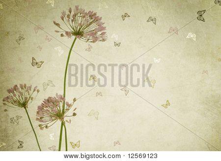 Beautiful Floral Design.Vintage styled