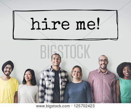 Hire Me Hiring Human Resources Jobs Recruitment Concept