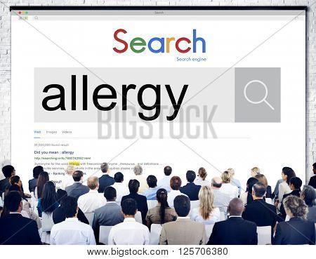 Allergies Reaction Aversion Medical Sensitive Concept