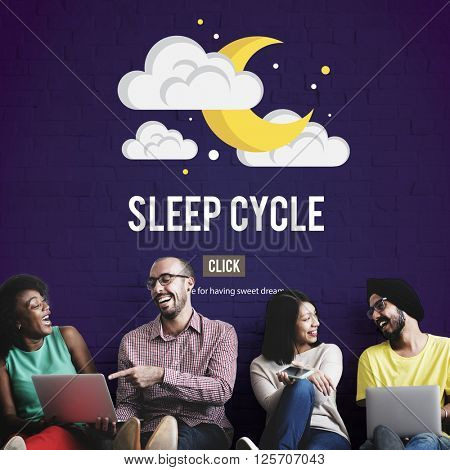 Sleep Cycle Awake REM Rapid Eye Movement Dream Relaxation Concept