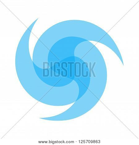 logo for mineral or purified water. filtering water. three blue  drops on white background. vector illustration