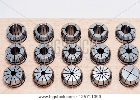Collets For Instruments For Heavy Industry In Wooden Box