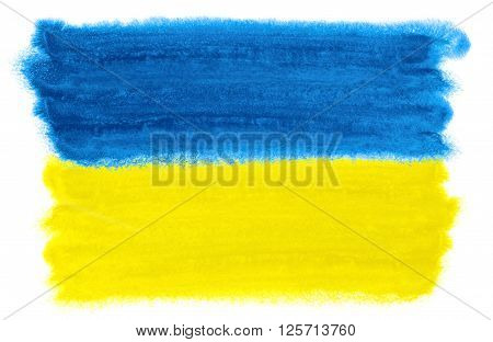 a watercolor illustration of the Ukraine flag