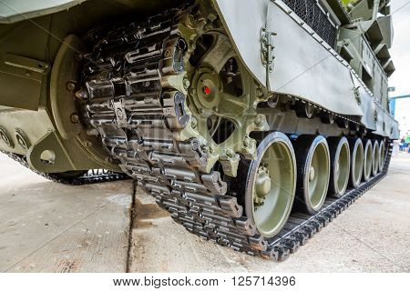 Crawler Tracks Of Military Tank
