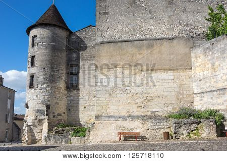 The Chateau des Valois an important medieval trading post at Cognac France