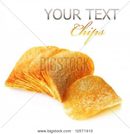 Potato Chips isolated on white