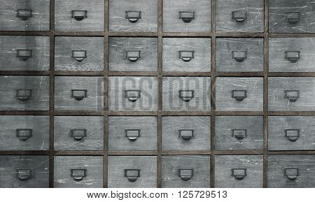 Apothecary wood chest with drawers 30 drawers poster