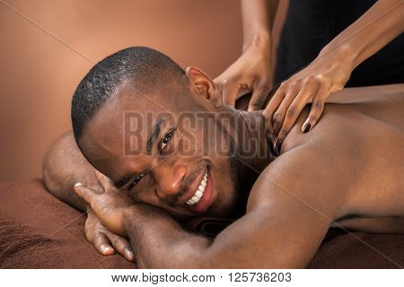 Man Receiving Massage Treatment