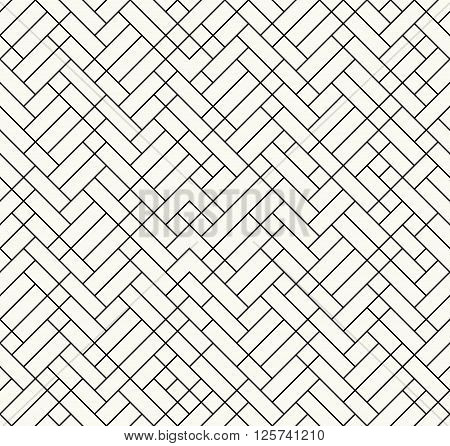 Modern Outlined Irregular Geometric Texture, Stylish Decorative Design - Vector Seamless Pattern