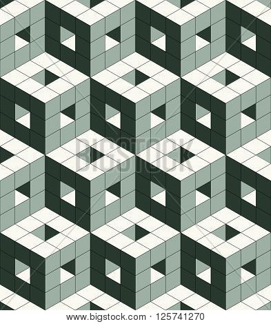 Abstract Modern Volumetric Decorative Design Background With Structure Of Repeating Cubes - Vector S
