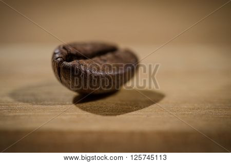 Extreme close up image of a coffee bean