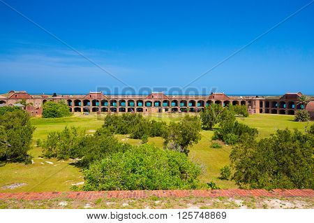 The Harbor Light sits atop of the Civil War Fort Jefferson in the Dry Tortugas Civil War Prison poster