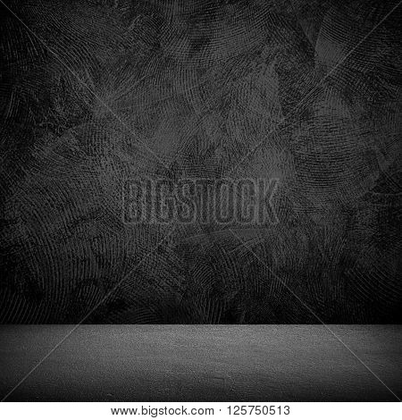 black paint texture with interior background