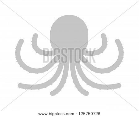 Illustration of cartoon octopus vector. Illustration of octopus. Octopus cartoon style. Cute octopus on white. Cartoon octopus animal underwater. Sea life animals octopus sign