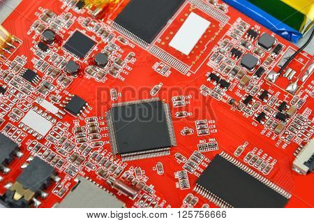 Red Computer Motherboard
