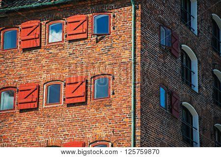 Red brick facade