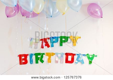 Colourful Birthday Party Text Decoration