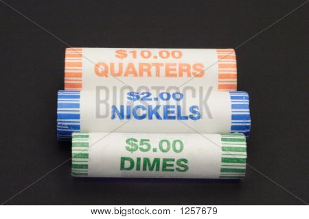 Three Rolls Of Coins