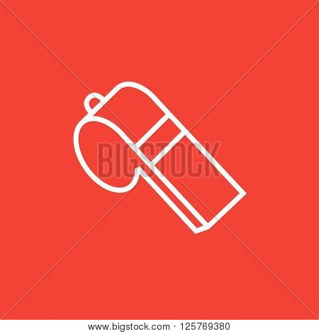 Whistle line icon.