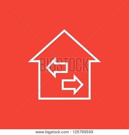 Property resale line icon.