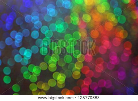 Blur Vision Of Many Blurry Dots With Bokeh Effect