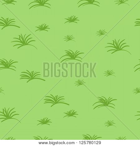 Seamless abstract pattern of hand drawn grass
