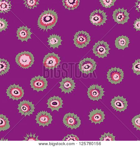 Eyes circles or colored blown seamless pattern. Vector texture