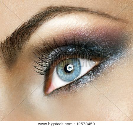 Beautiful Woman's Eye.Makeup poster