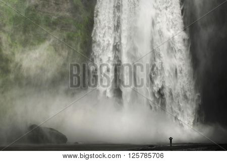 Powerful nature - The mighty skogafoss is a very impressive waterfall in Iceland.