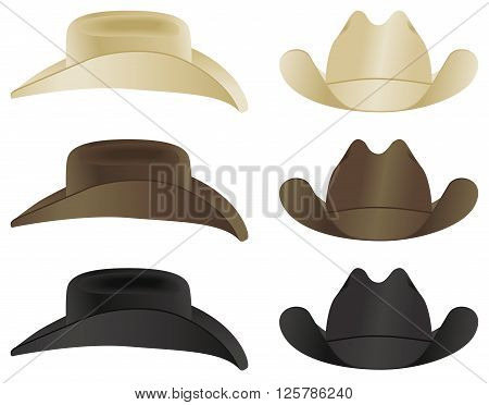 A country and western cowboy hat selection.