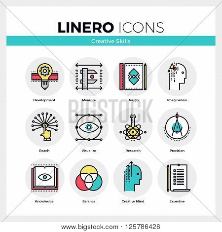 Creative Skills Linero Icons Set