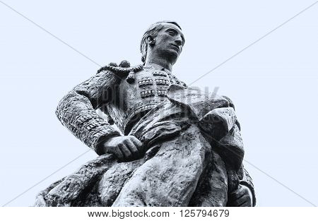 Statue of a bullfighter in the exterior of the city of Coprdoba Spain